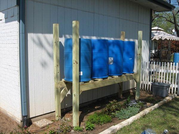 بشکه های پلاستیکی ذخیره کننده آب باران با دوام بالا