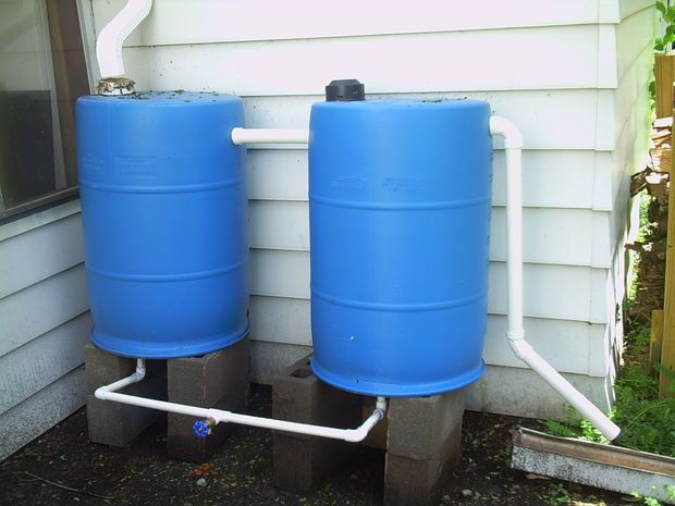 بشکه پلاستیکی 220 آب باران