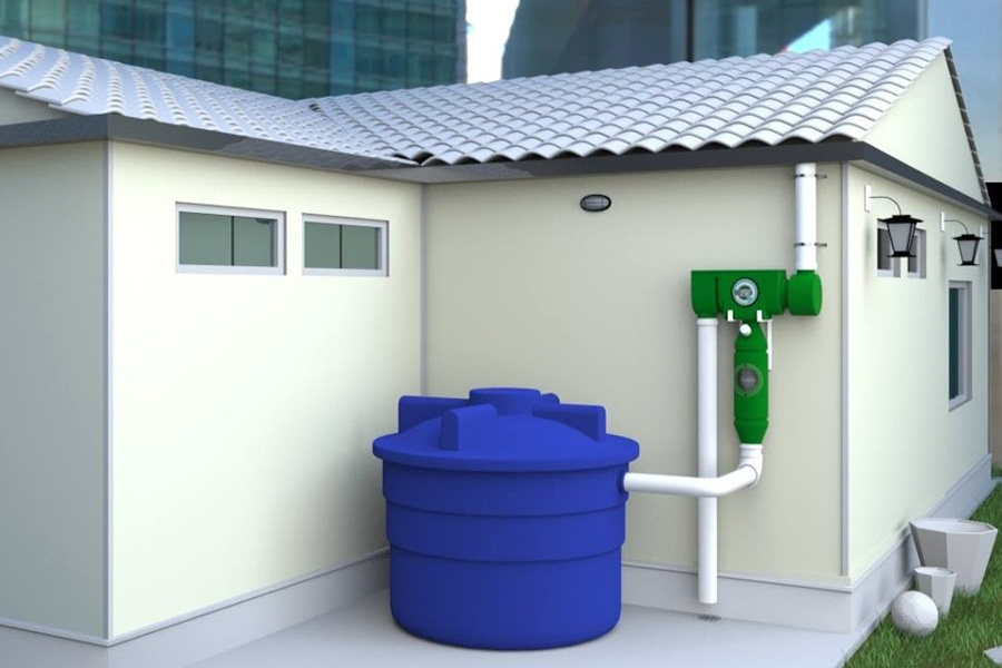 مخزن آب آبی برای منازل مسکونی