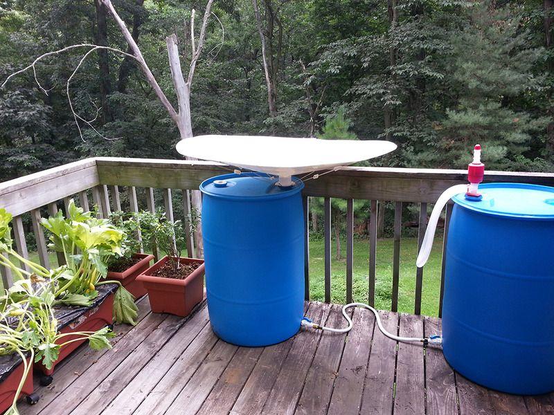 بشکه پلاستیکی آب باران