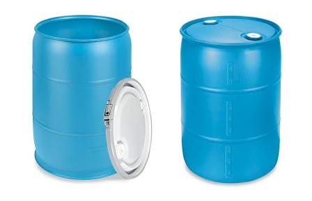 بشکه پلاستیکی دهانه باز و دهانه بسته